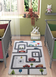 "Rugs for kids Roads Theme by Antdecor  4'x 6' 52""x 75"" 133x190 cm - Rattanglobal"