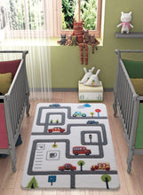 "Load image into Gallery viewer, Rugs for kids Roads Theme by Antdecor  3'x 5' 39""x 59"" 100x150 cm - Rattanglobal"