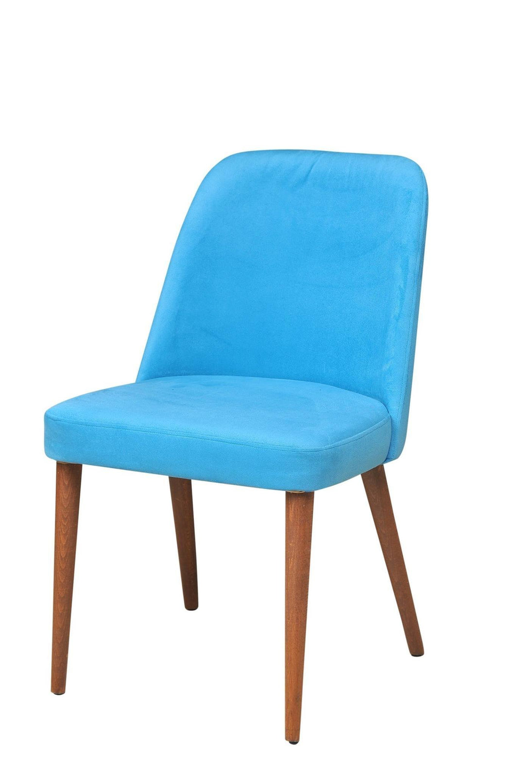 Armless Chair Suede Blue 20