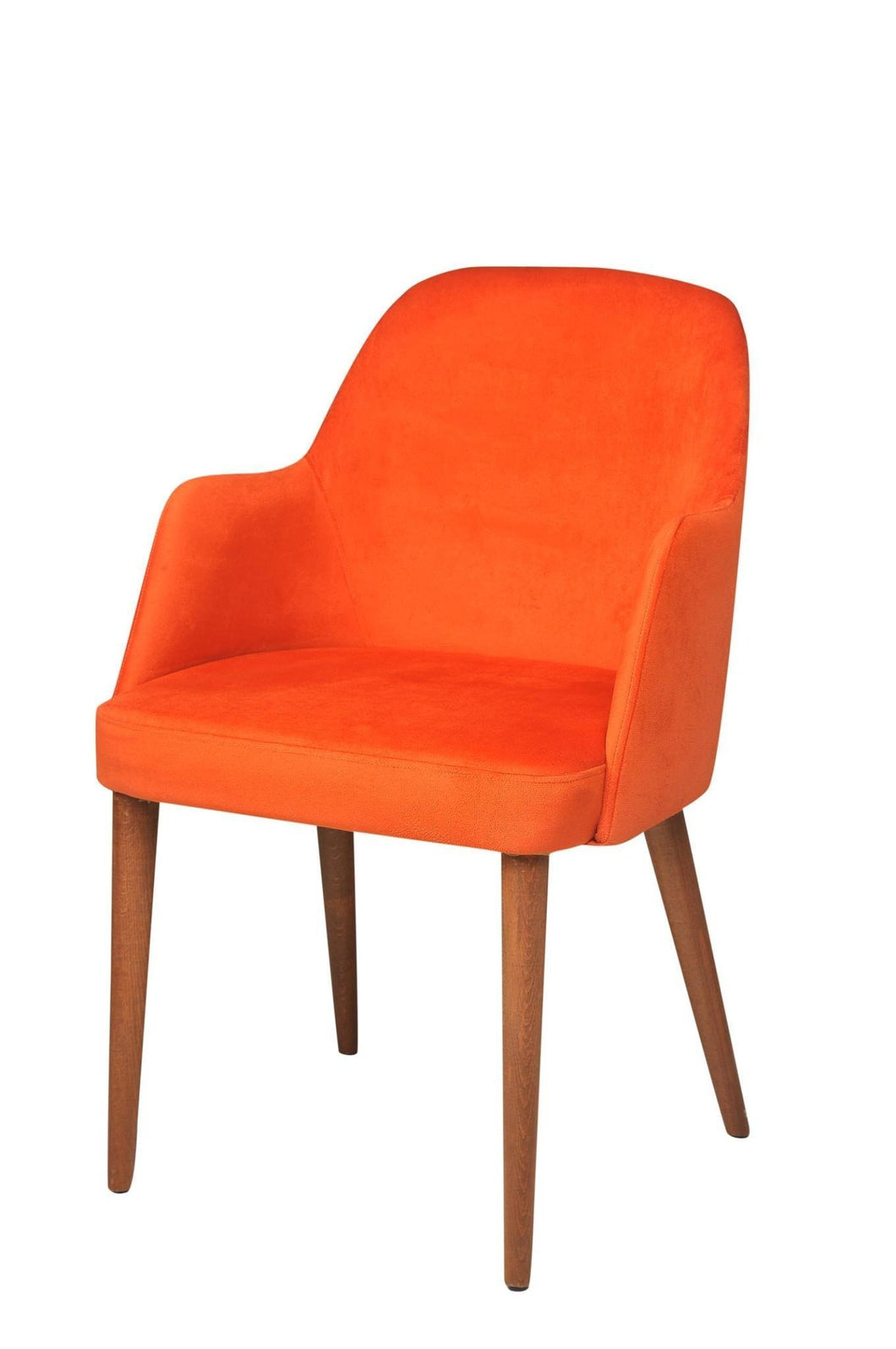 Arm Chair Suede Orange 21