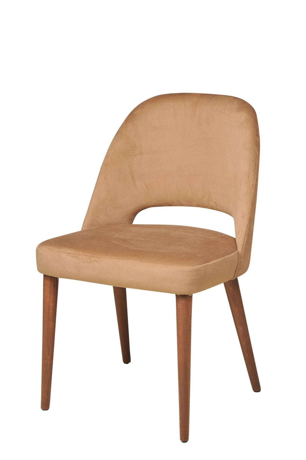 Armless Chair Suede Cream 20