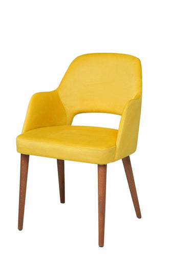 Arm Chair Suede Yelllow 21