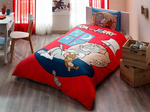 %100 Cotton Tom and Jerry Theme licensed Bedding Set Single / Twin Best Seller Set Collection - Rattanglobal