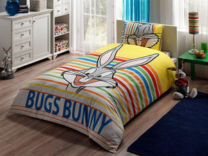 %100 Cotton Bugs Bunny Theme licensed Bedding Set Single / Twin Best Seller Set Collection - Rattanglobal