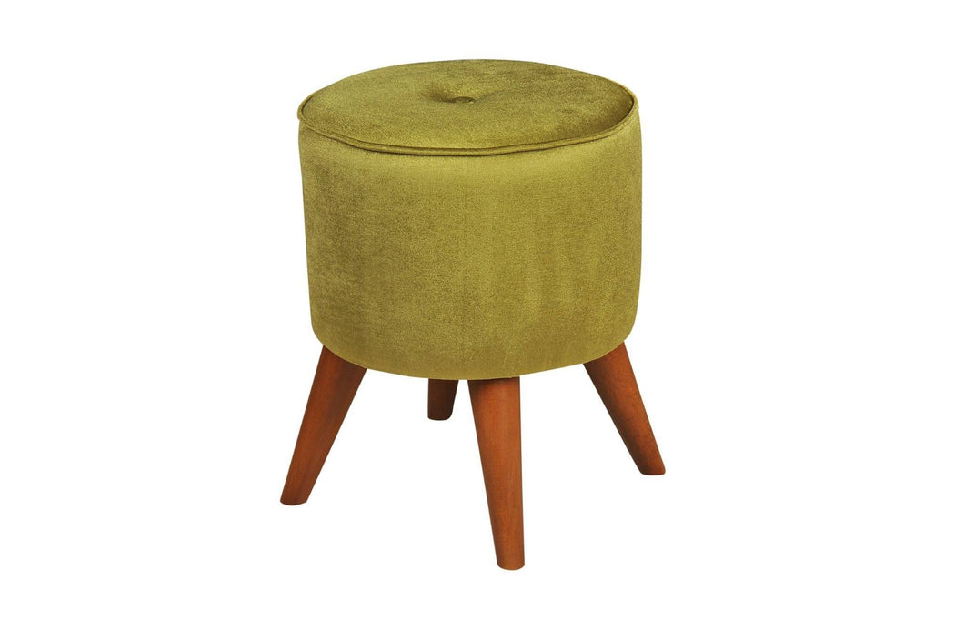 Round Gold Poufs - Rattanglobal