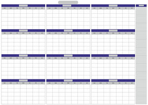 "Dry Erase Extra Large Undated Yearly PVC Vinly Lamination Wall Calendar 33"" x 55""(100 x 140 CM - Rattanglobal"