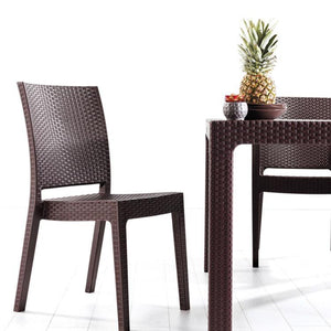"Novussi Classi 90 Rattan Table Outdoor Garden Furnitures Collections 35""x35"" ( 90x90cm) - Rattanglobal"