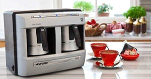 Automatic Turkish Coffee Machine (4 People) (220v Only, Needs a 110v-220v (Min 1400w) Converter to Work on Us Outlets. Do Not Plug in Directly to a Us Outlet.) - Rattanglobal