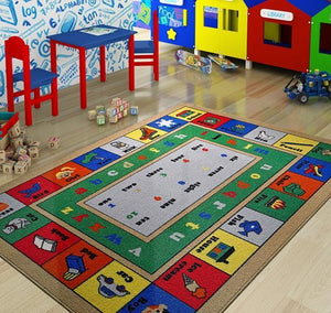 "Lesson Design Kids Rugs Anti Slip Anti Alergetic Game Carpets for Kids 79""X114"" 200X290cm - Rattanglobal"