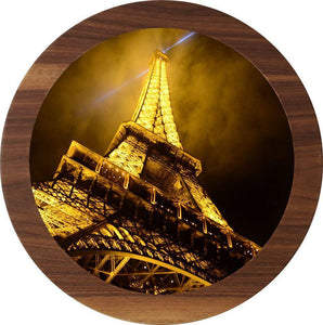 "UV Photo Print Round Coffee Table 3pcs Set Eco Friendly - indefectible 15""X15""X H:24"" Paris Theme - Rattanglobal"