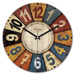 "Wooden Wall Clock 12""x12"" Cadran WT26 - Rattanglobal"