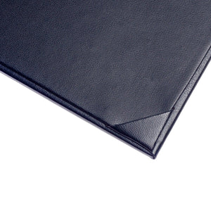 "3PCS Menu Holder Menu Covers Synthetic Leather Single Panel with Angled Corners Black - 11.4"" x 5.1"" (L x W) - Rattanglobal"