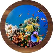 "Load image into Gallery viewer, UV Photo Print Round Coffee Table 3pcs Set Eco Friendly - indefectible 15""X15""X H:24"" Aquarium Theme - Rattanglobal"