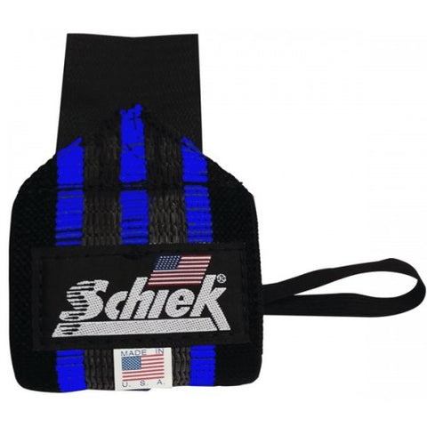 Schiek Wrist Wraps Blue Line Pair