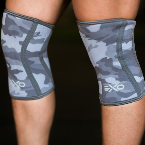 EXO Grey Camo 7mm Knee Sleeves  (Pair)