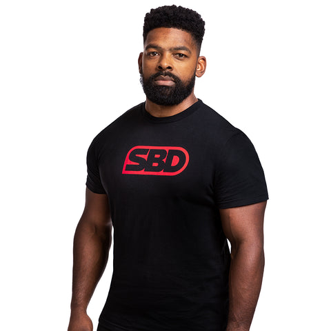 SBD Brand T-Shirt - Red Black