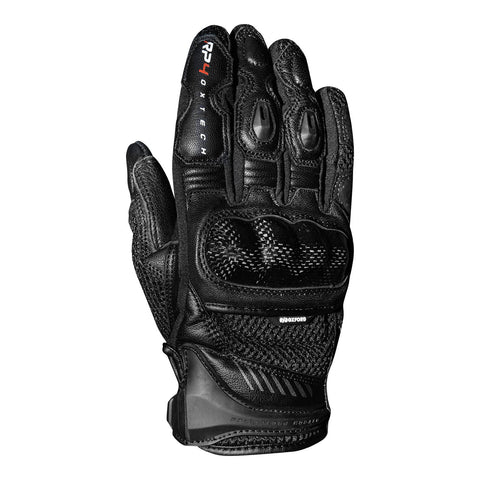 OXFORD RP-4 MENS SHORT LEATHER SPORT GLOVES - BLACK