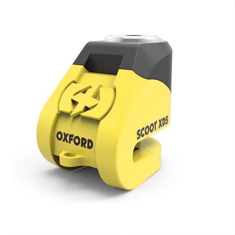 OXFORD SCOOT XD5 SCOOTER DISC LOCK BLK/ YEL