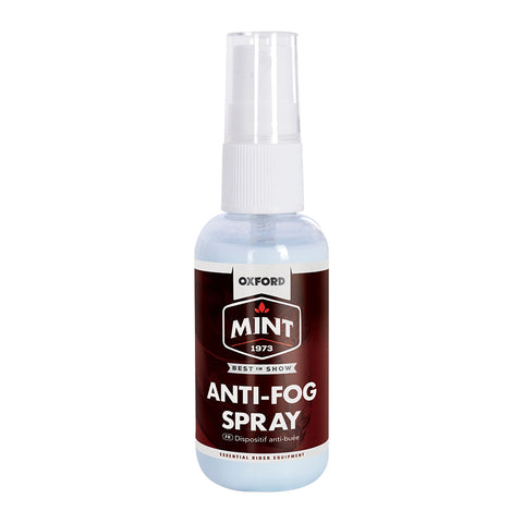 OXFORD MINT ANTI FOG VISOR SPRAY 50ml
