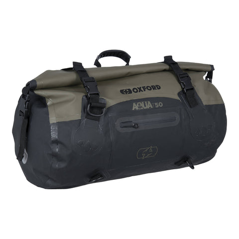 OXFORD AQUA T50 ROLL BAG BLK/KHAKI  (NEW)