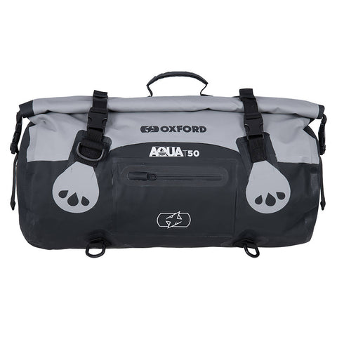 OXFORD AQUA T50 ROLL BAG BLK/GRY