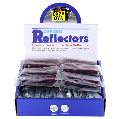 OXFORD REFLECTORS RED RECTANGULAR BOX (50PCS)