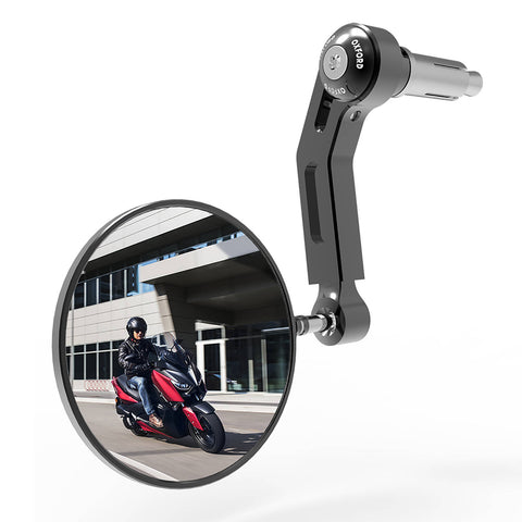OXFORD PREMIUM BAR END MIRROR LEFT BLK