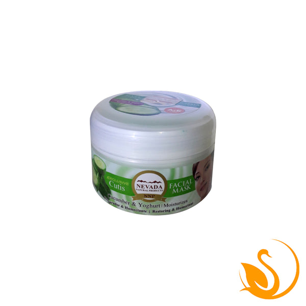 Mascarilla Facial con Extracto de Pepino y Yogurt.