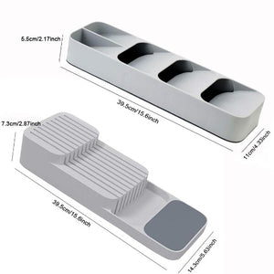 Kitchen Drawer Organizer | Excellent for Storing Knife Sets, Cutlery and Utensils