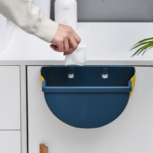 Hanging Collapsible Waste Bin | Convenience For Meal Preparations or For Use in the Bathroom