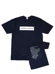 "Jenna Raine ""A Letter To Me"" Navy Tee"