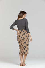 Lou Lou Long Bamboo Tube Skirt Steel Dot
