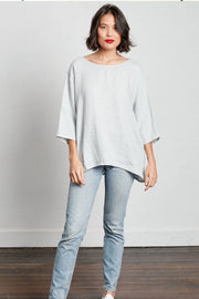 Montaigne Loose linen 3/4 sleeve top