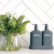 al.ive body Wash & Lotion Duo + Tray - Co & Wild Orange