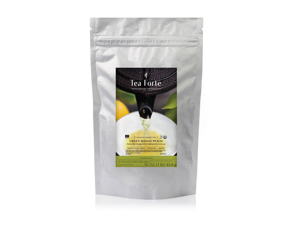 GREEN MANGO PEACH ONE POUND LOOSE TEA POUCH