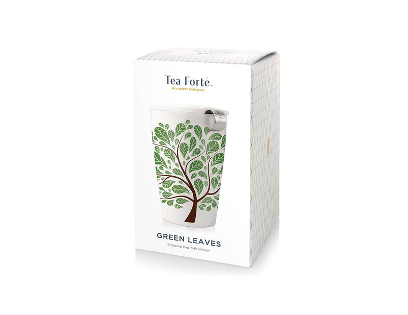 KATI® STEEPING CUP & INFUSER GREEN LEAVES