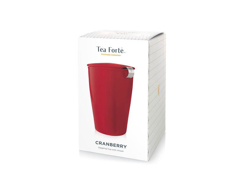 KATI® STEEPING CUP & INFUSER CRANBERRY
