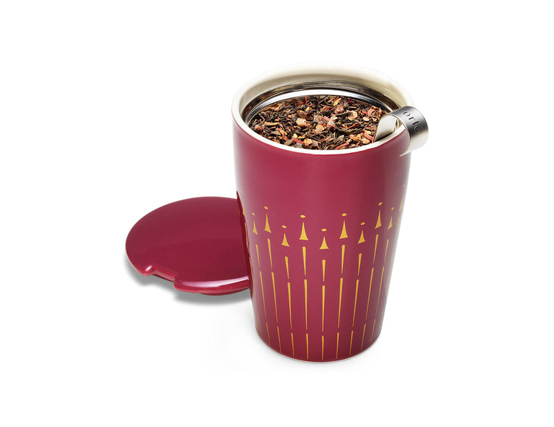 KATI® STEEPING CUP & INFUSER RED & GOLD