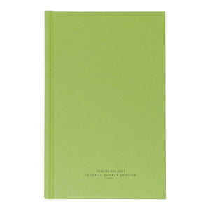 "Green Military Log Book, Record Book, Memorandum Book — 5 1/2"" x 8"" — NSN 7530-00-222-3521"