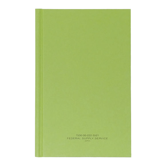 Green Military Log Book, Record Book, Memorandum Book — 5 1/2