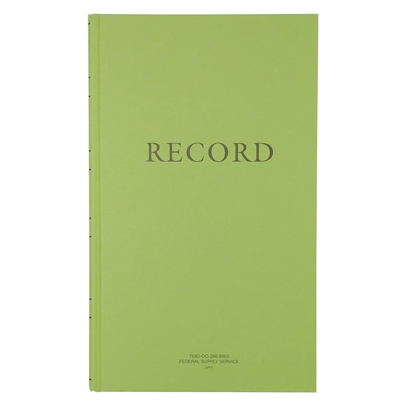 Green Military Log Book, Record Book, Memorandum Book — 8 1/2