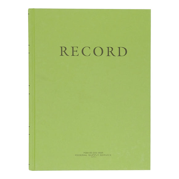 Green Military Log Book, Record Book, Memorandum Book — 8