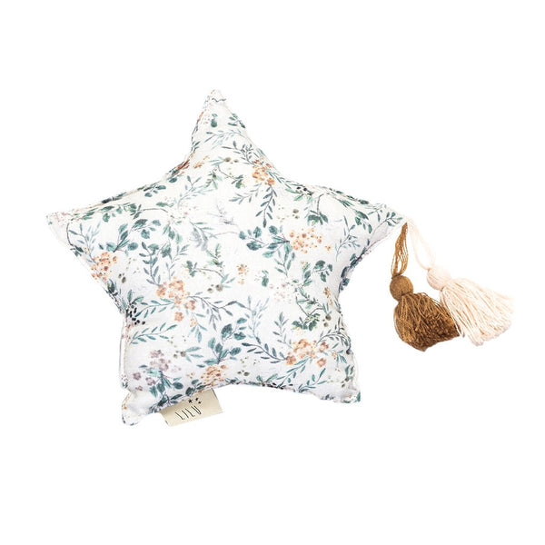 Muslin Star Pillow - Grey