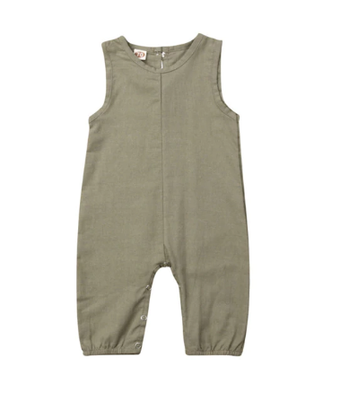 Sleeveless Romper- Army Green