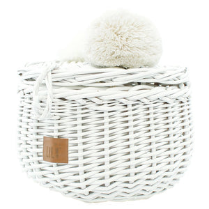 Wicker Basket - White