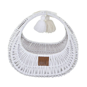 Wicker Bag - White