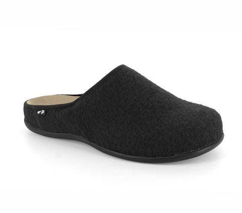 Copenhagen Black Orthotic Slipper