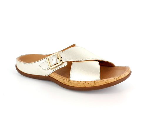 MARIA BUCKLE PALE GOLD PAIR