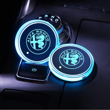 Load image into Gallery viewer, 2PCS Car LED Cup Holder Lights for Alfa-Romeo with 7 Colors Changing