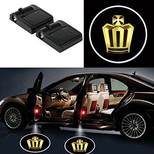 2 Pcs LED Car Door Logo Ghost Shadow Light for Crown Free Shipping